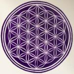Fialový Květ života