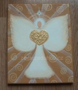 Andílek, obraz na přání
